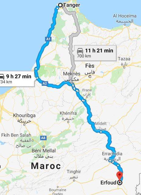 Traversée du Maroc pour rejoindre Erfoud